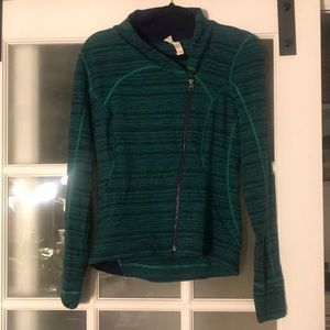 Lululemon diagonal zip stretch jacket 10